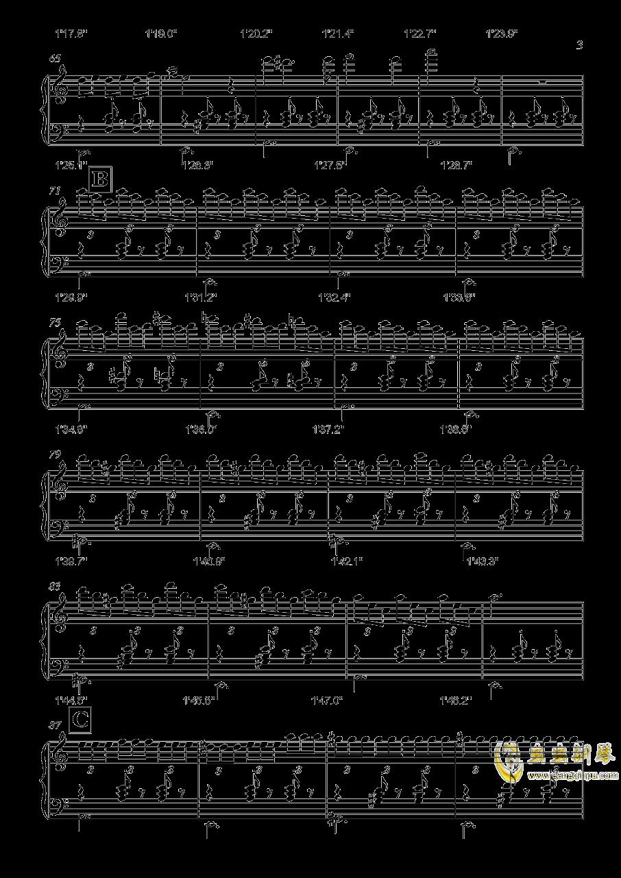生日快乐舞曲钢琴谱 第3页