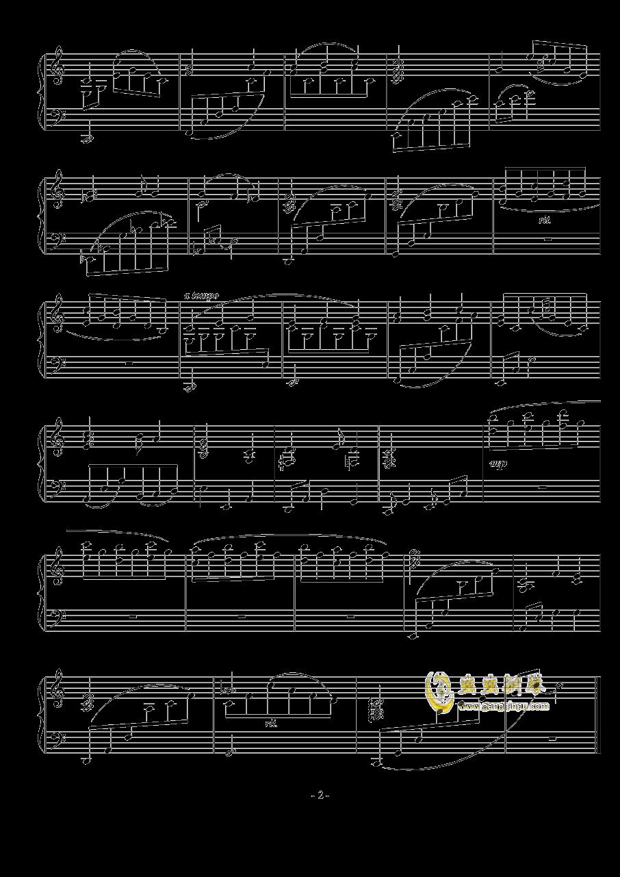 夜之歌钢琴谱 第2页