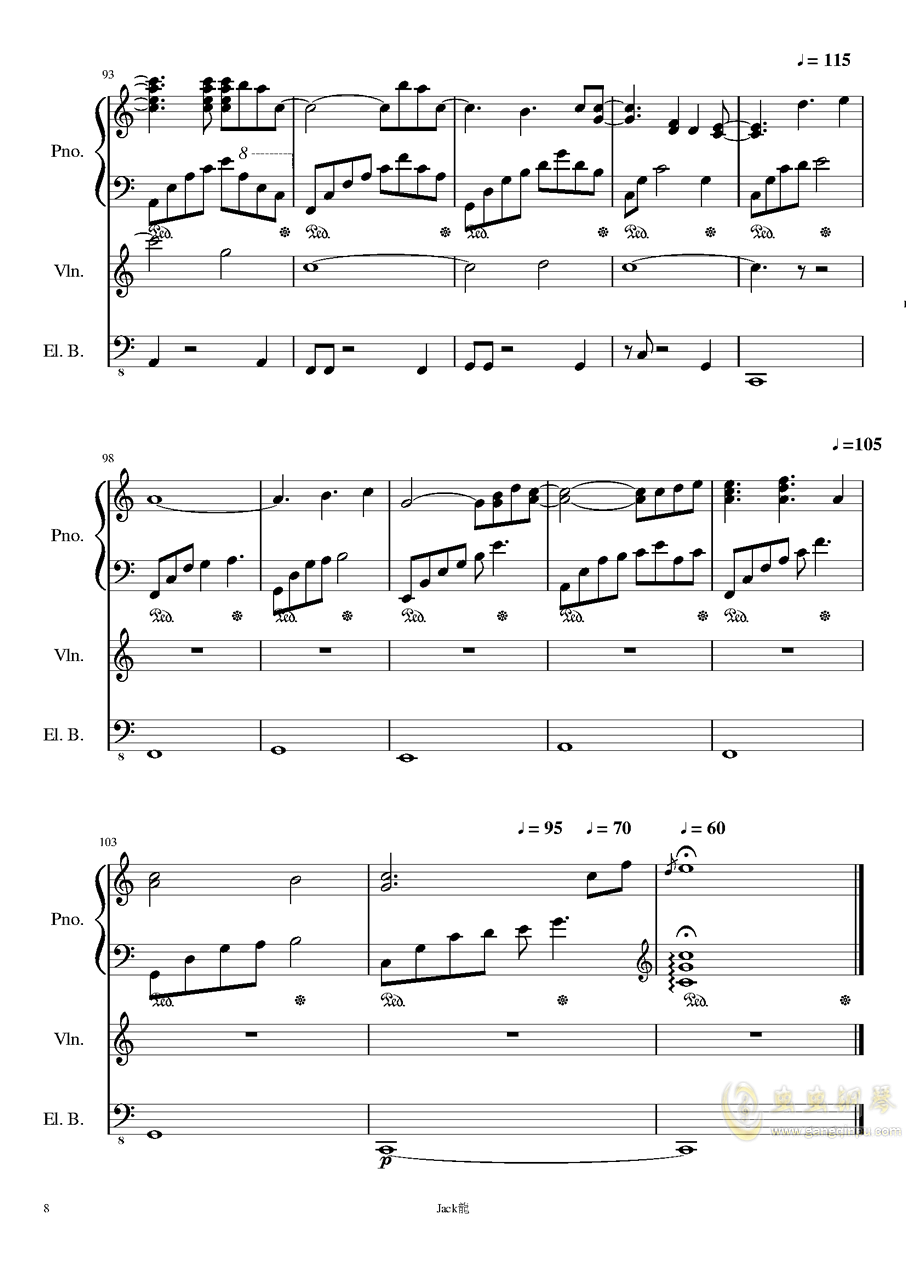 forever love钢琴谱 第8页