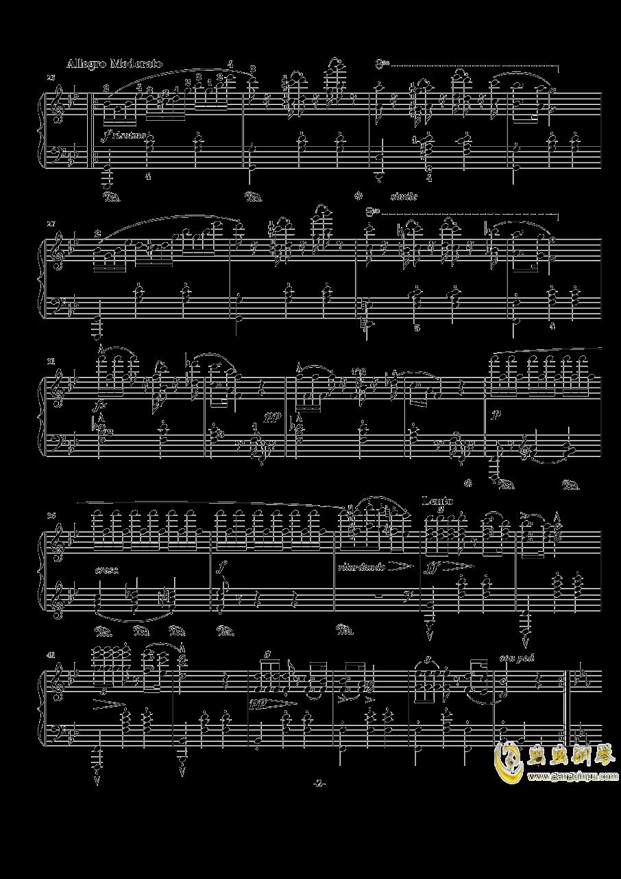 阿尔卑斯山的晚霞钢琴谱 第2页