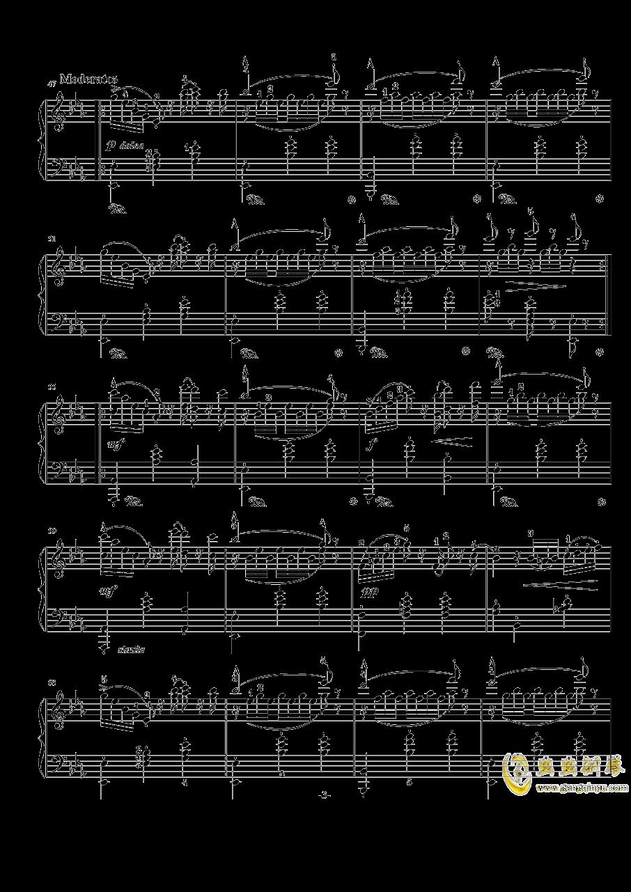 阿尔卑斯山的晚霞钢琴谱 第3页