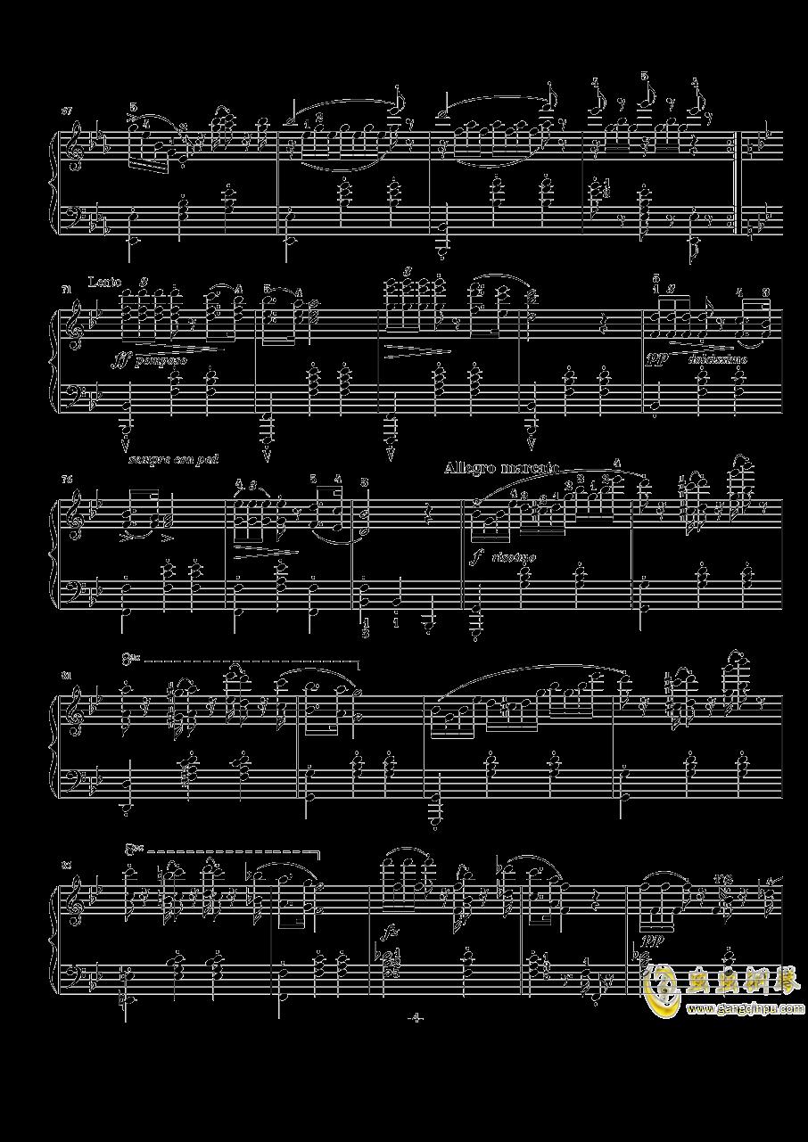 阿尔卑斯山的晚霞钢琴谱 第4页