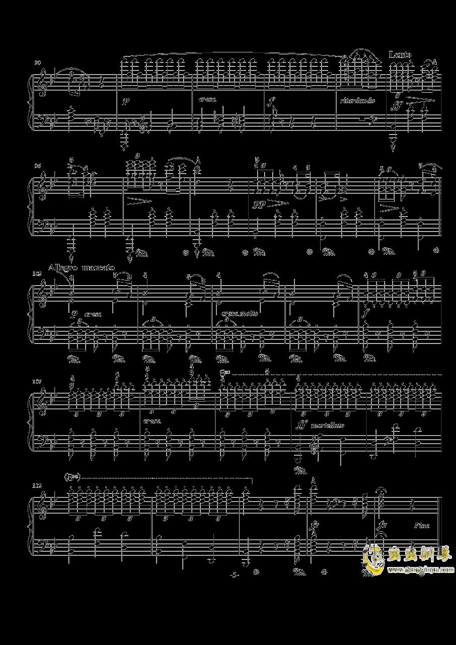 阿尔卑斯山的晚霞钢琴谱 第5页