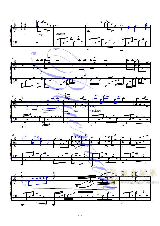 袖手旁观钢琴谱 第2页