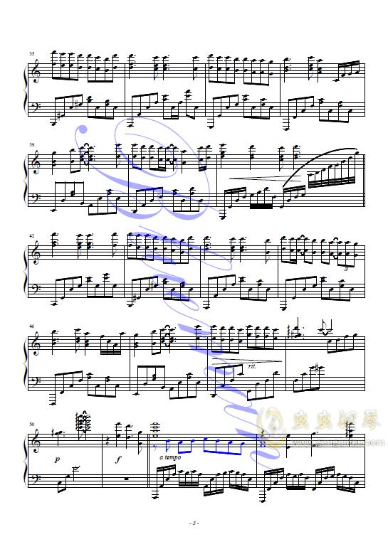 袖手旁观钢琴谱 第3页