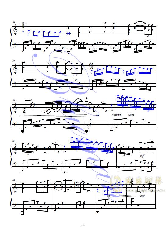 袖手旁观钢琴谱 第4页