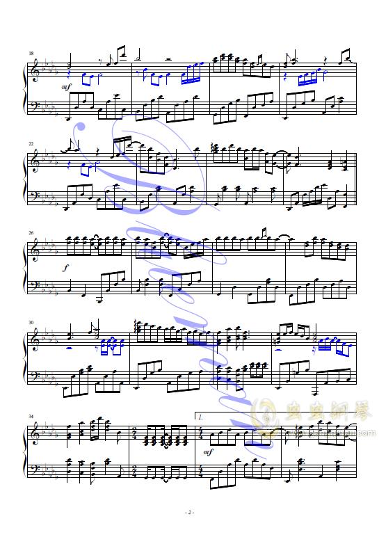 香港之夜钢琴谱 第2页