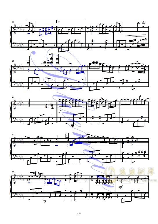 香港之夜钢琴谱 第3页
