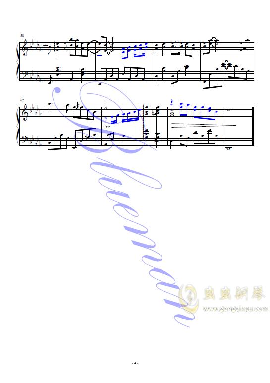 香港之夜钢琴谱 第4页