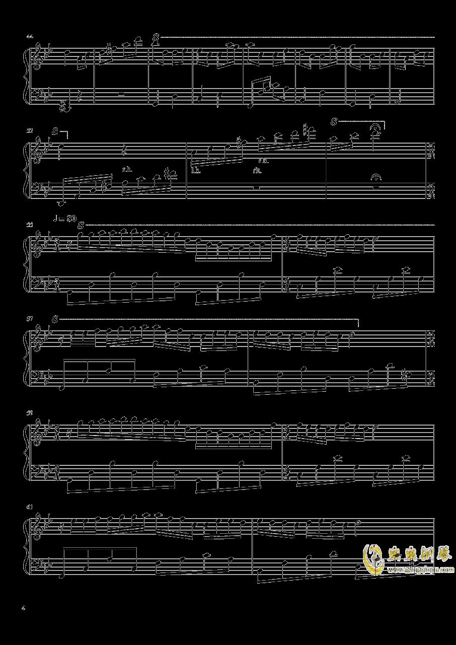 梦中的婚礼钢琴谱 第4页