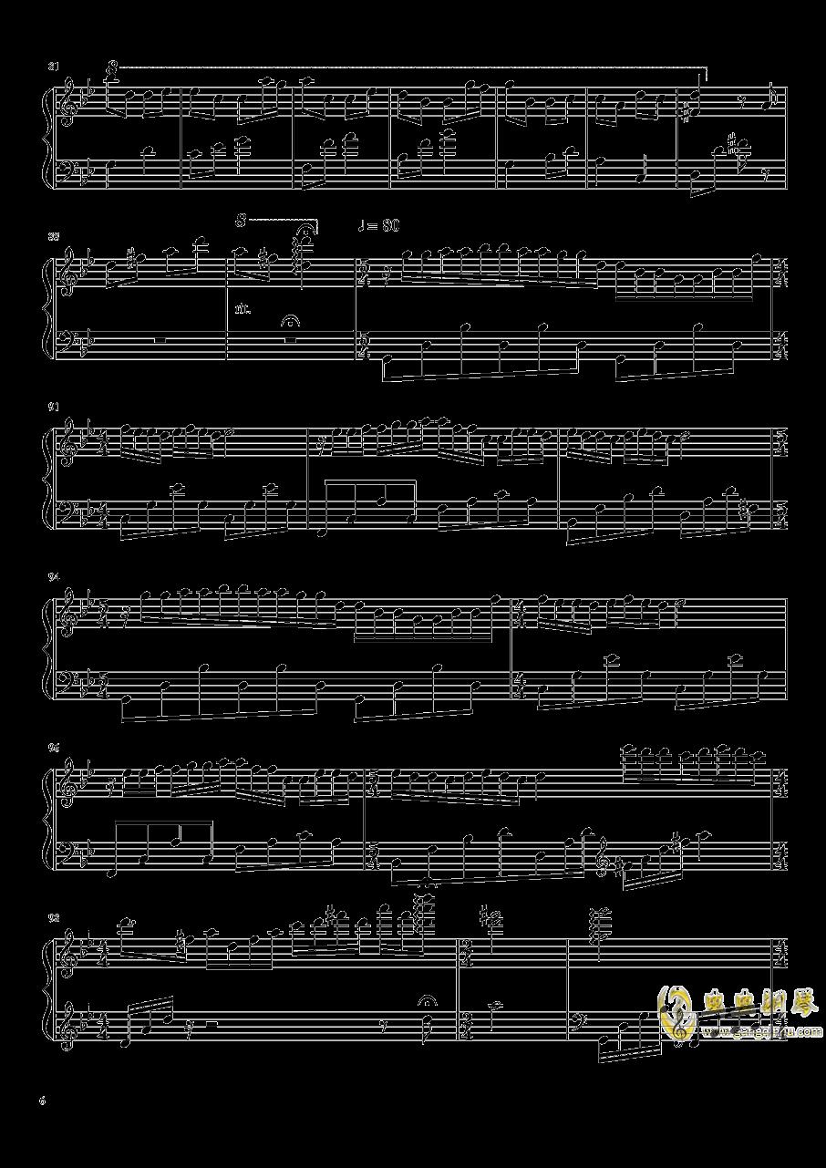 梦中的婚礼钢琴谱 第6页