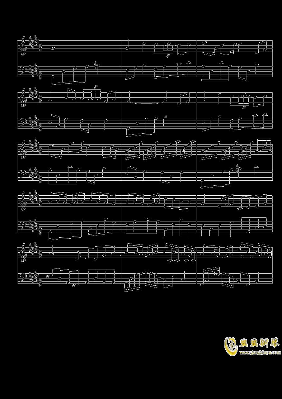琴键上的女孩钢琴谱 第2页