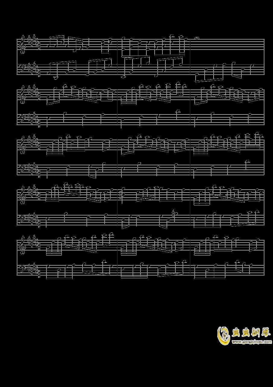 琴键上的女孩钢琴谱 第4页