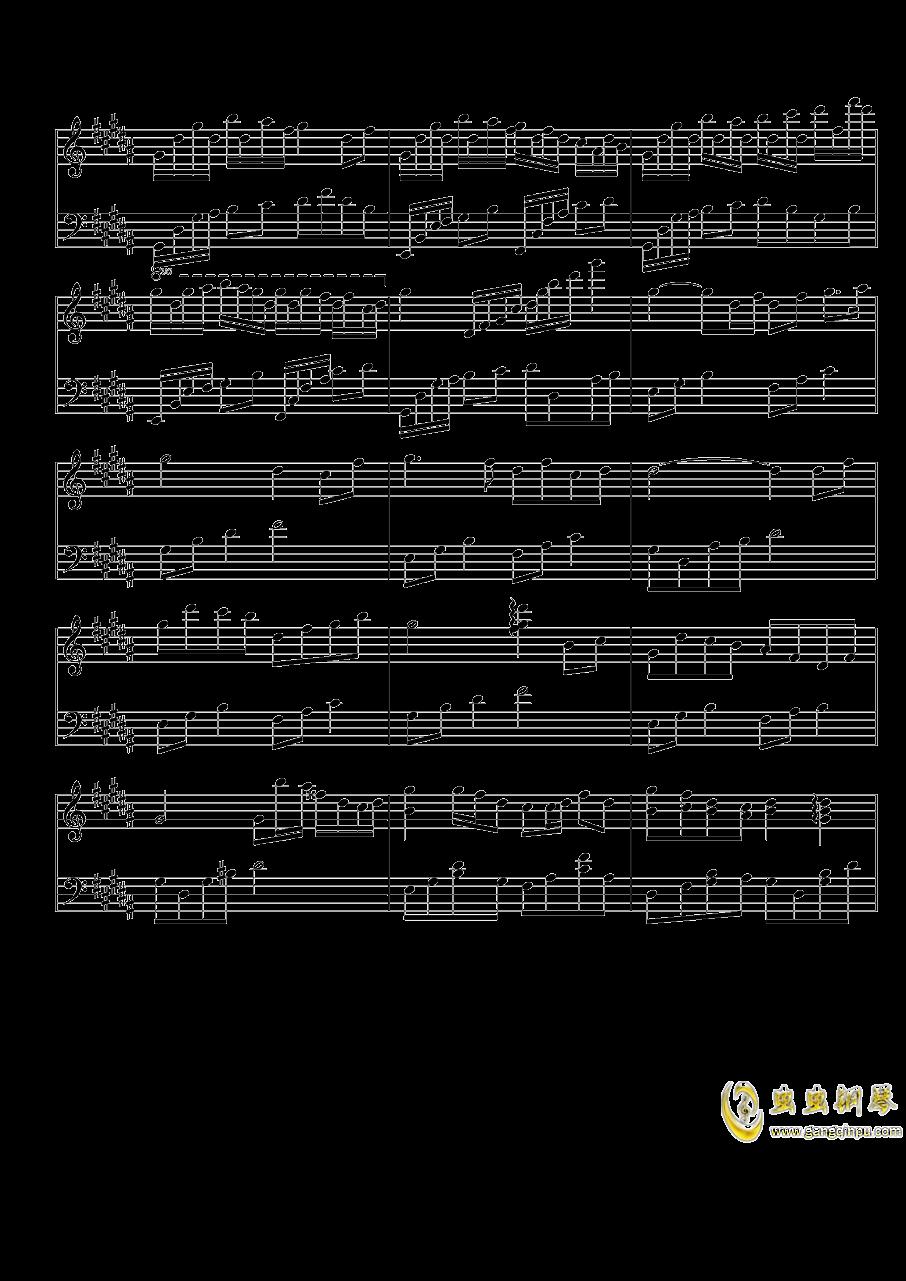 琴键上的女孩钢琴谱 第6页