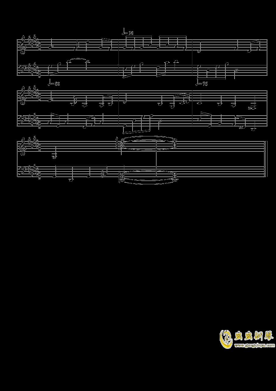 琴键上的女孩钢琴谱 第8页