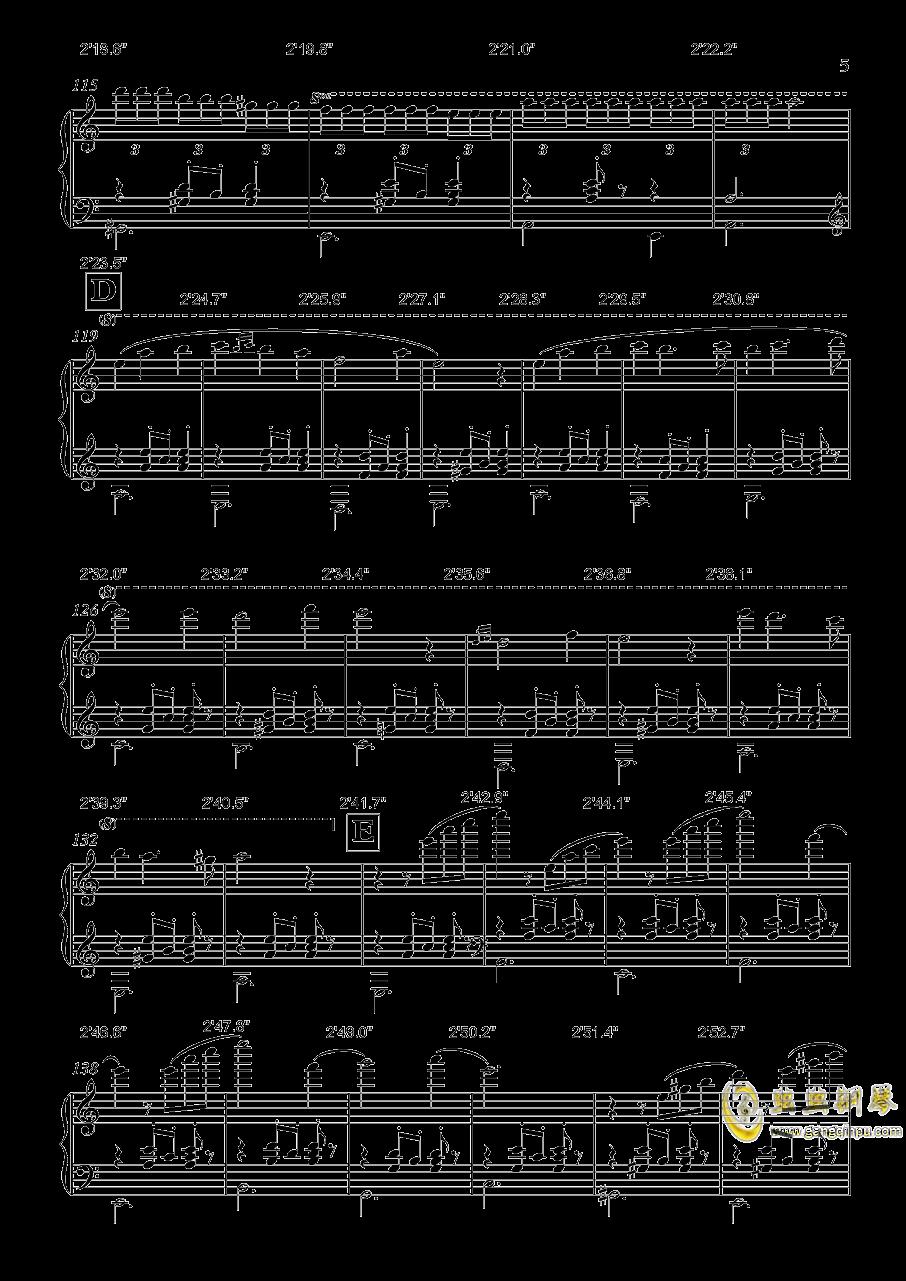 生日快乐舞曲钢琴谱 第5页