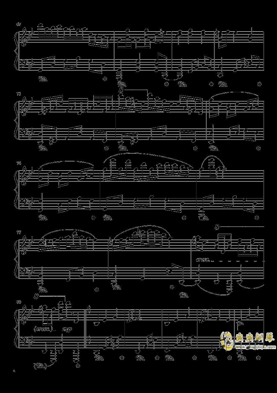 暗�の�L穴钢琴谱 第4页
