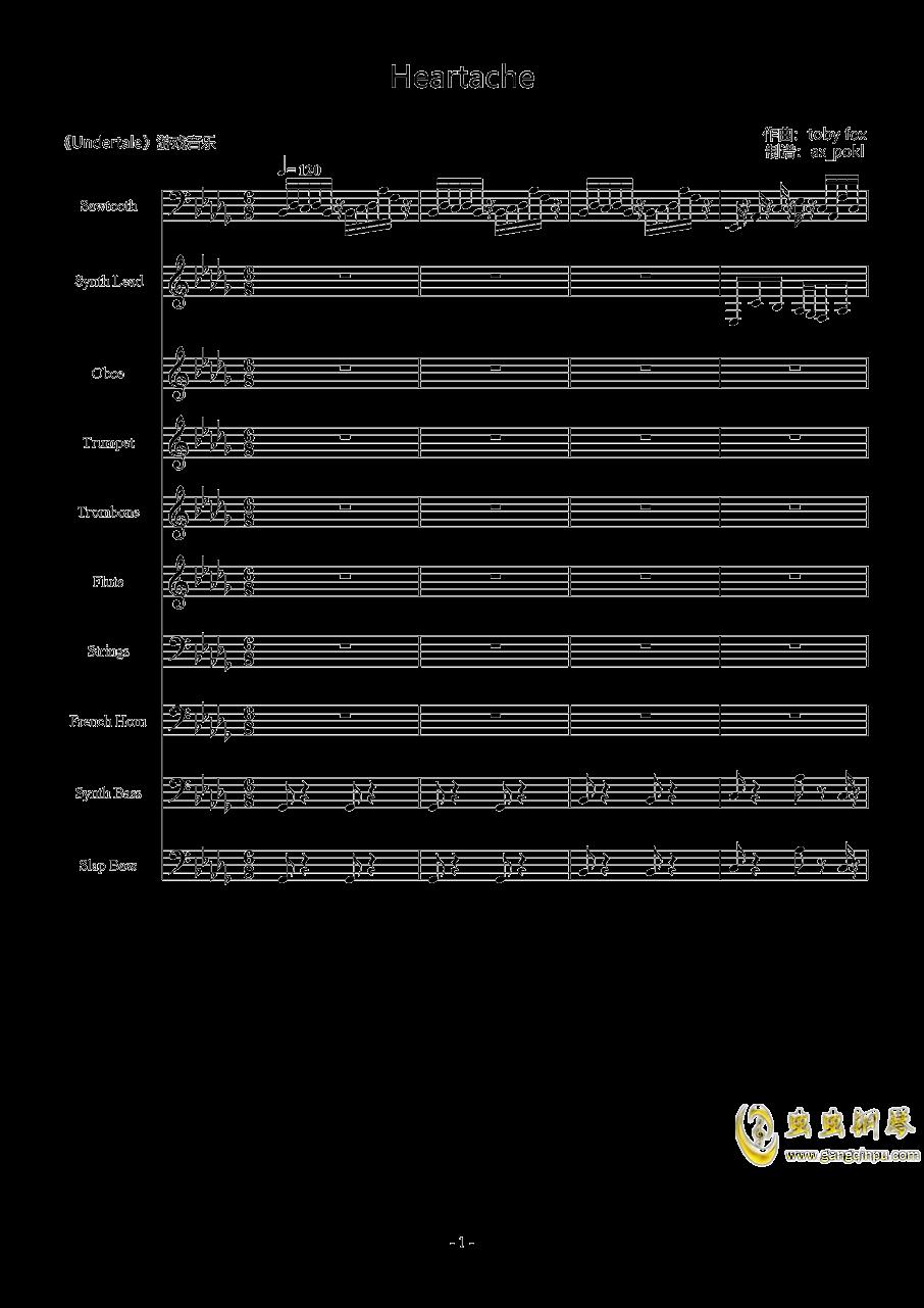 Heartache钢琴谱 第1页