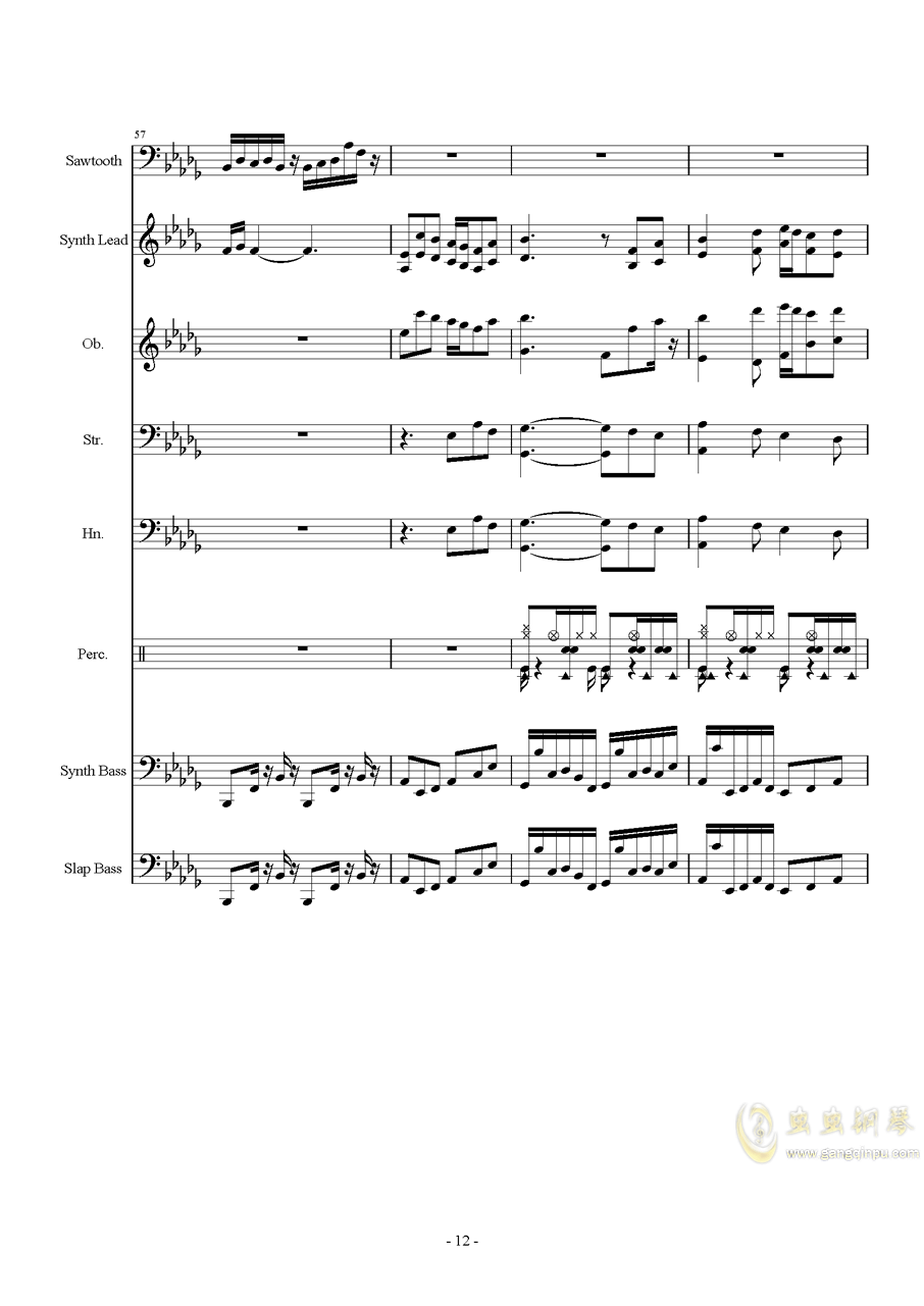 Heartache钢琴谱 第12页