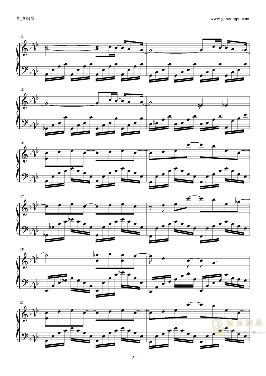 摩天大楼钢琴谱 第2页