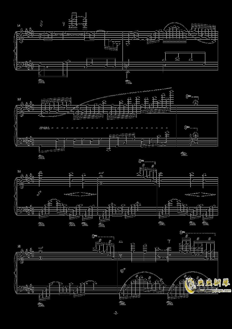 素描-海景钢琴谱 第2页