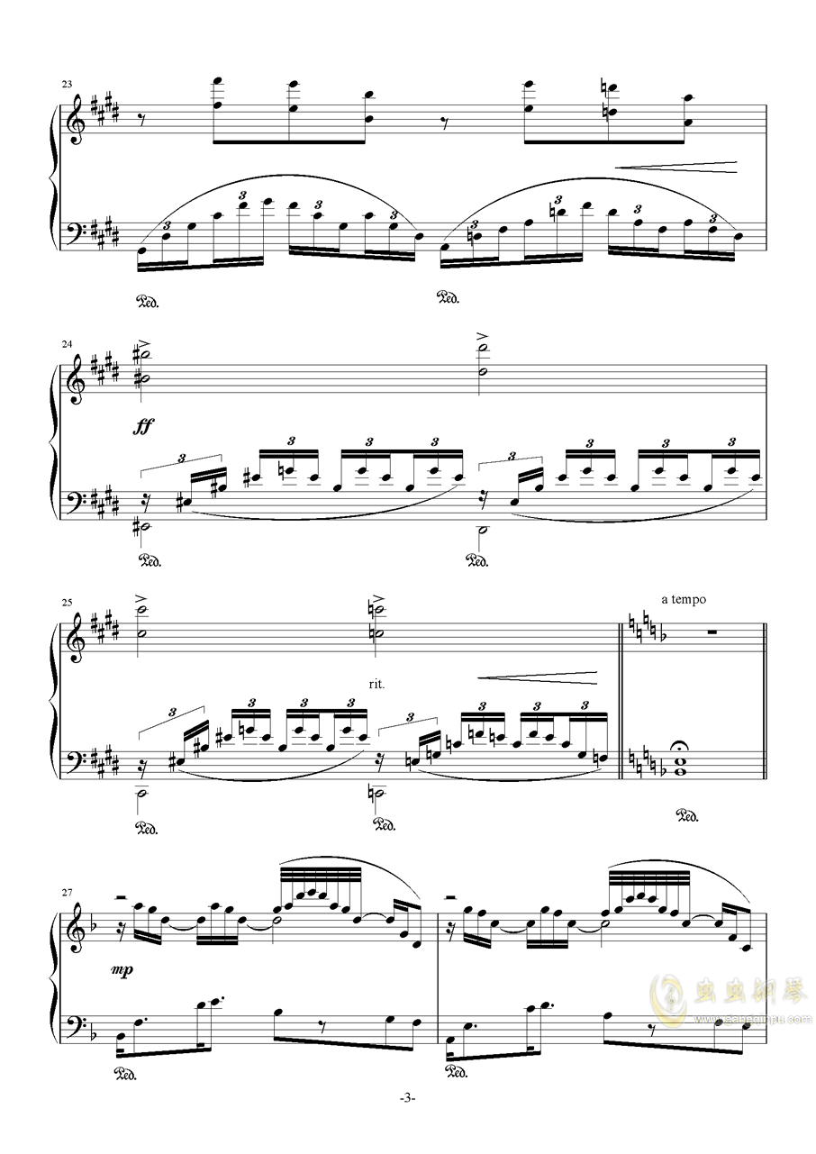 素描-海景钢琴谱 第3页