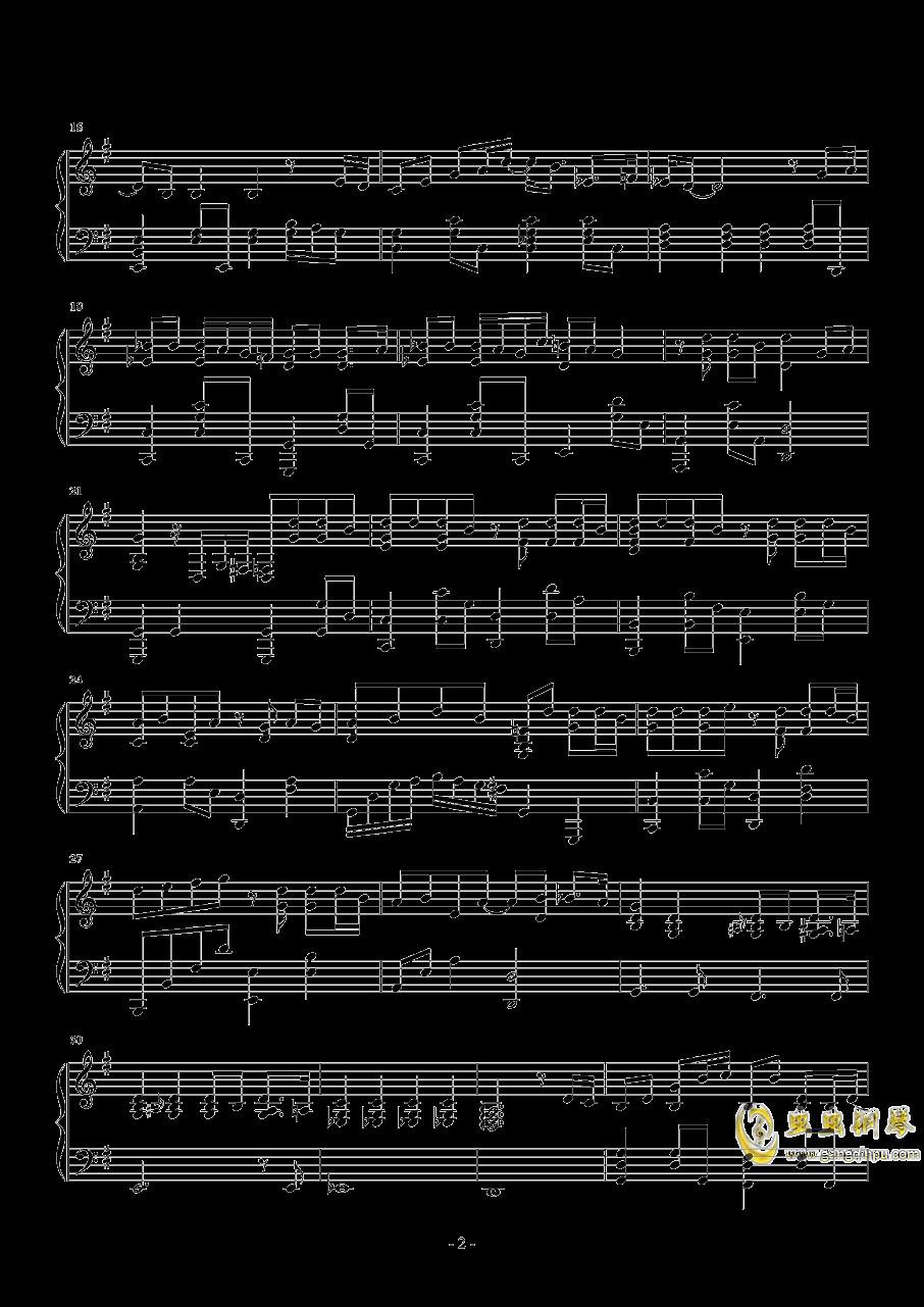 戒烟钢琴谱 第2页