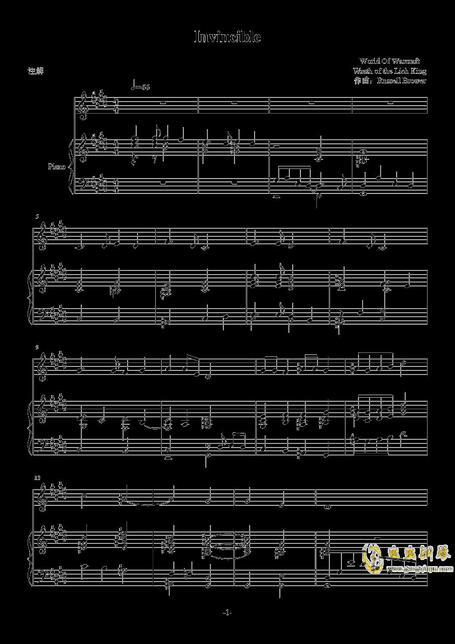 魔兽世界巫妖王的陨落钢琴谱 第1页