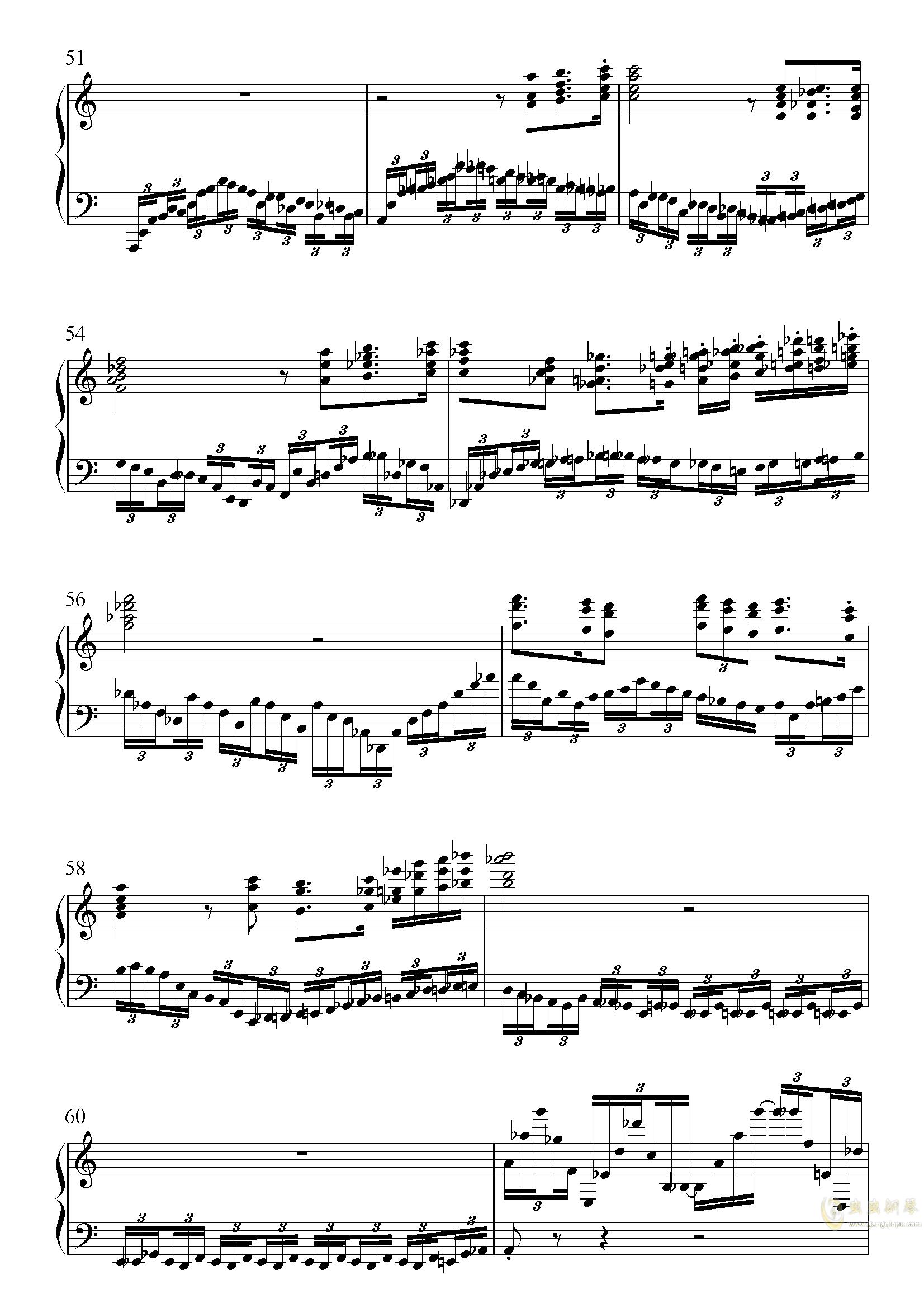革命钢琴谱 第3页