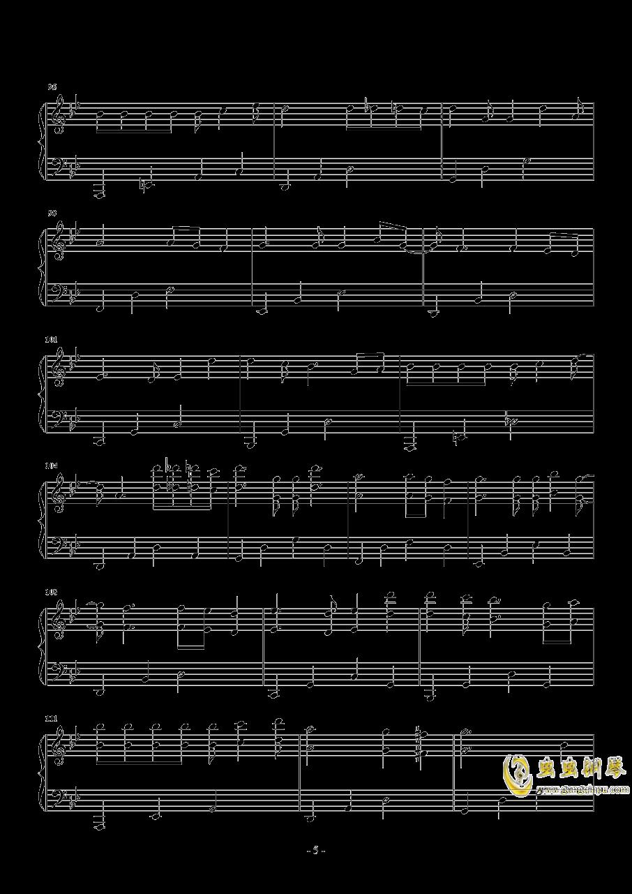 红玫瑰钢琴谱 第5页