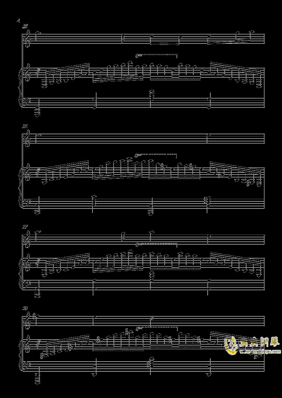 恍如一梦钢琴谱 第4页