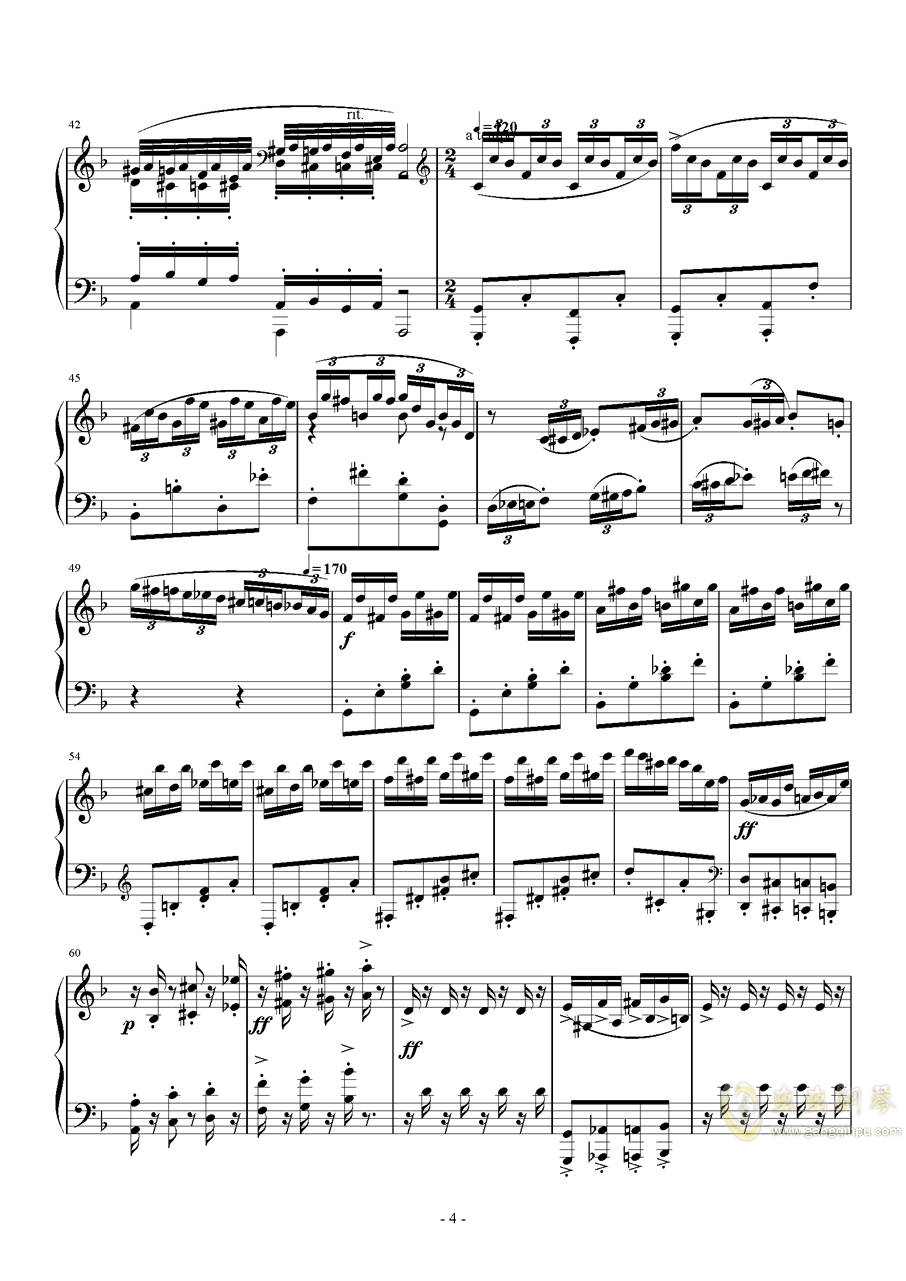 松中 Op.63钢琴谱 第4页