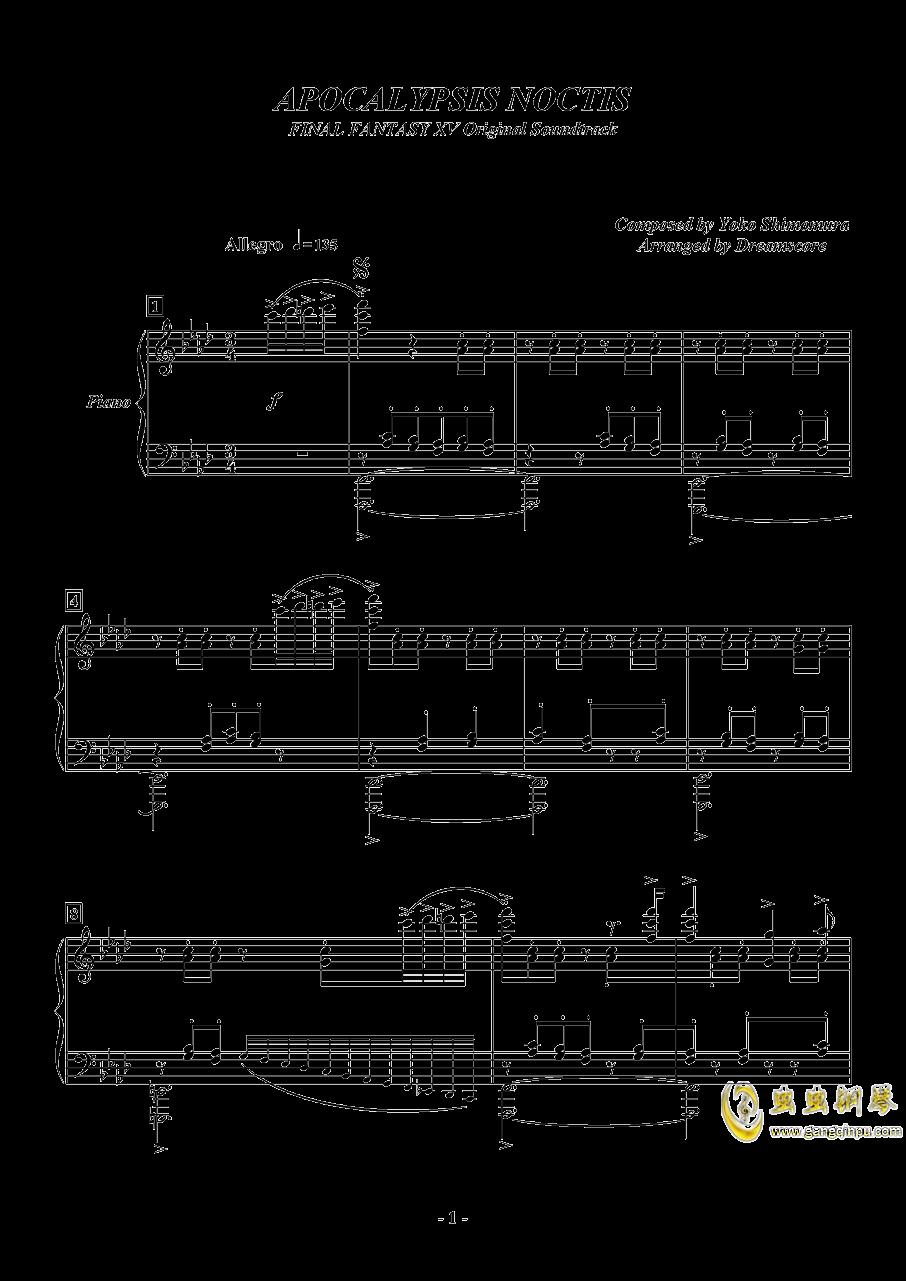 APOCALYPSIS NOCTIS钢琴谱 第1页
