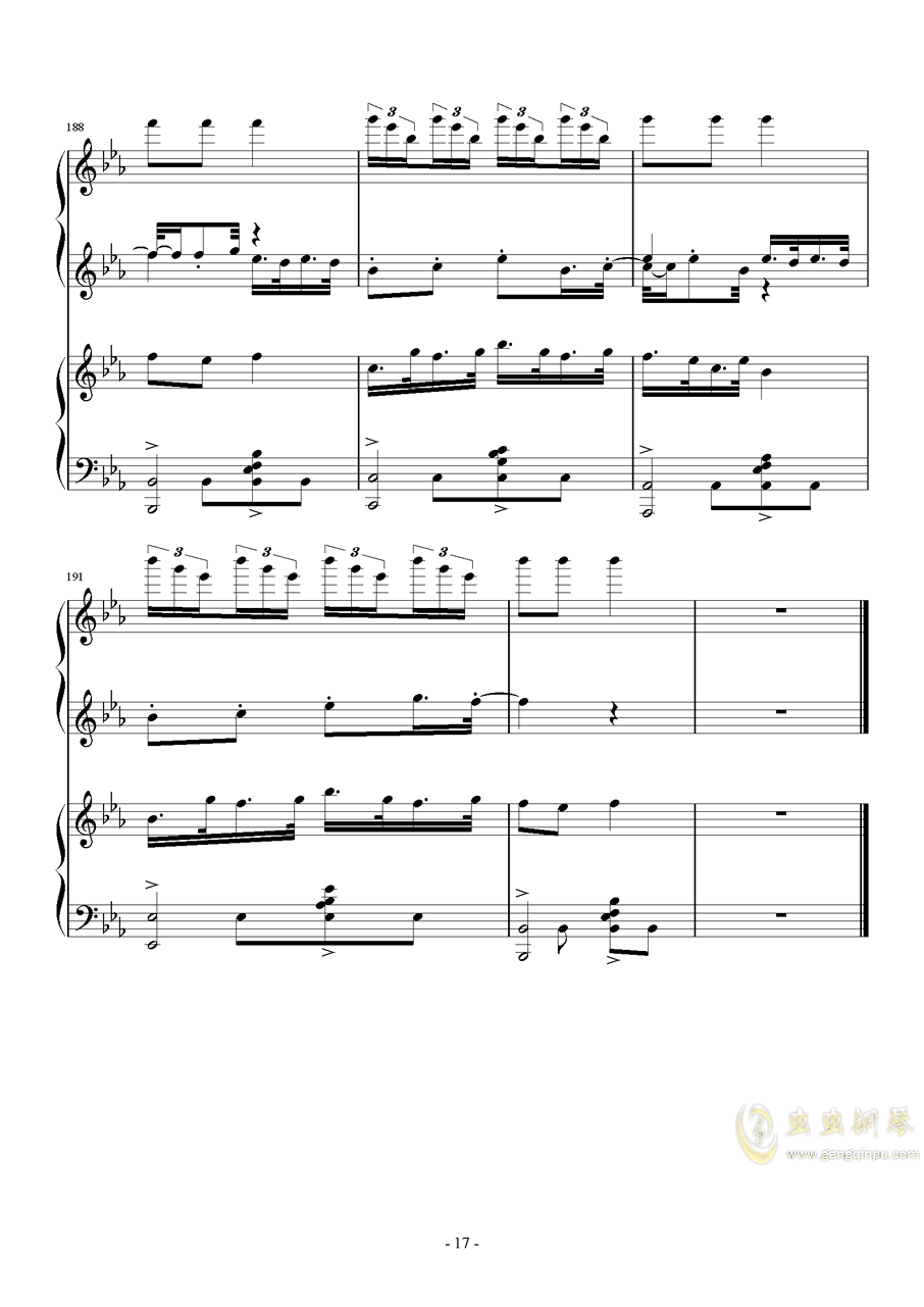 color-X 徐梦圆钢琴谱 第17页