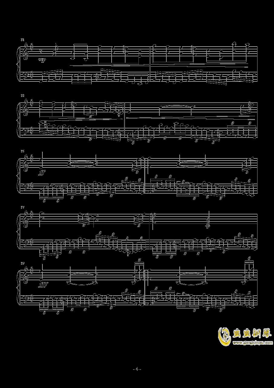e小调音乐会练习曲钢琴谱 第4页