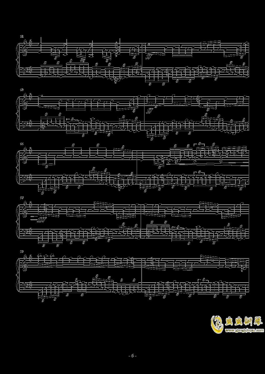 e小调音乐会练习曲钢琴谱 第6页