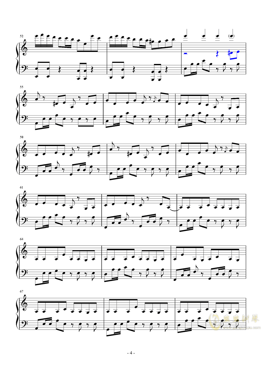 植物大战僵尸钢琴谱 第4页