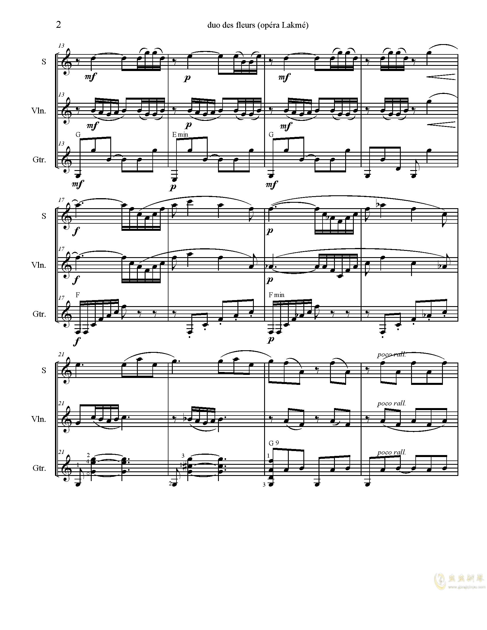 花之二重唱钢琴谱 第2页