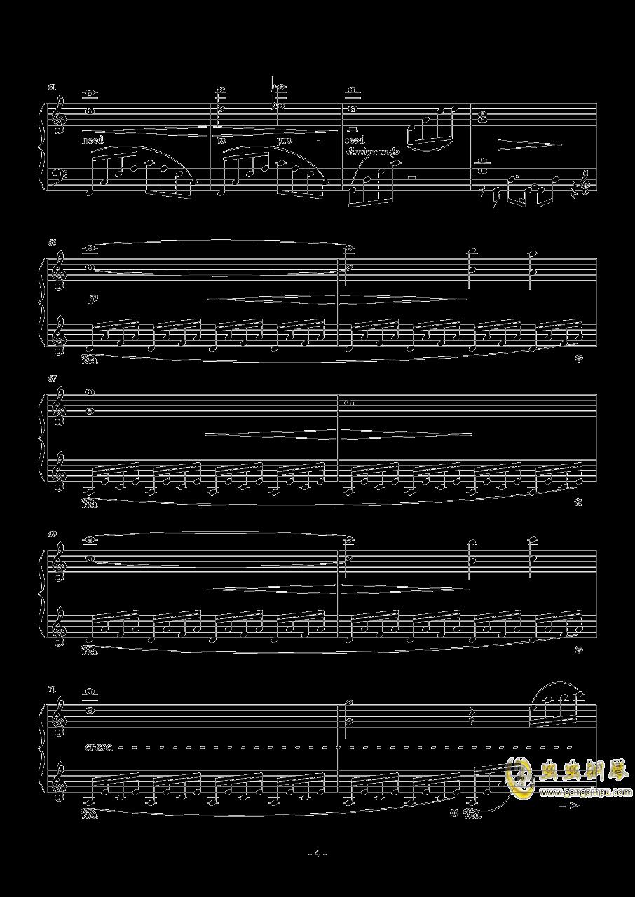 日落水乡钢琴谱 第4页