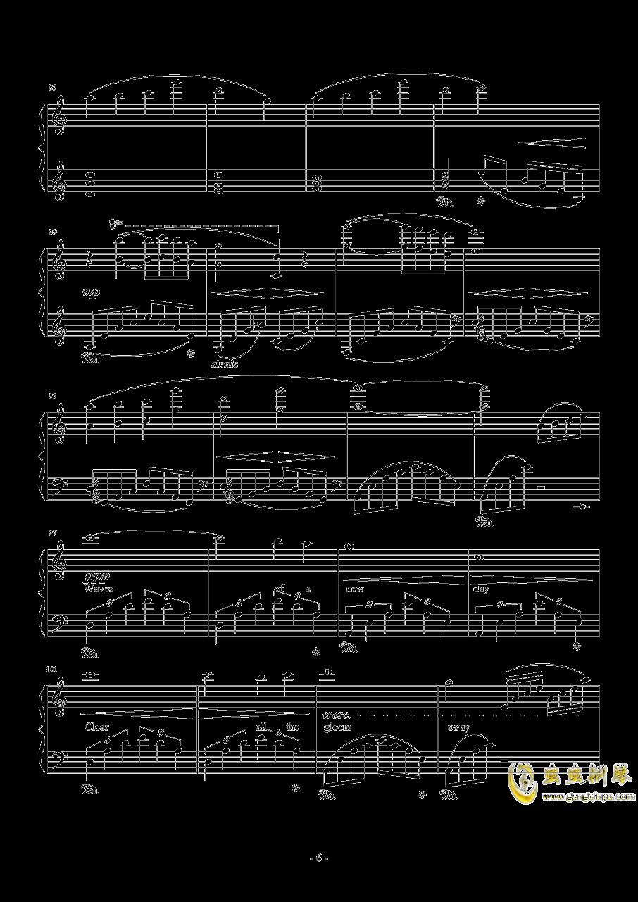 日落水乡钢琴谱 第6页