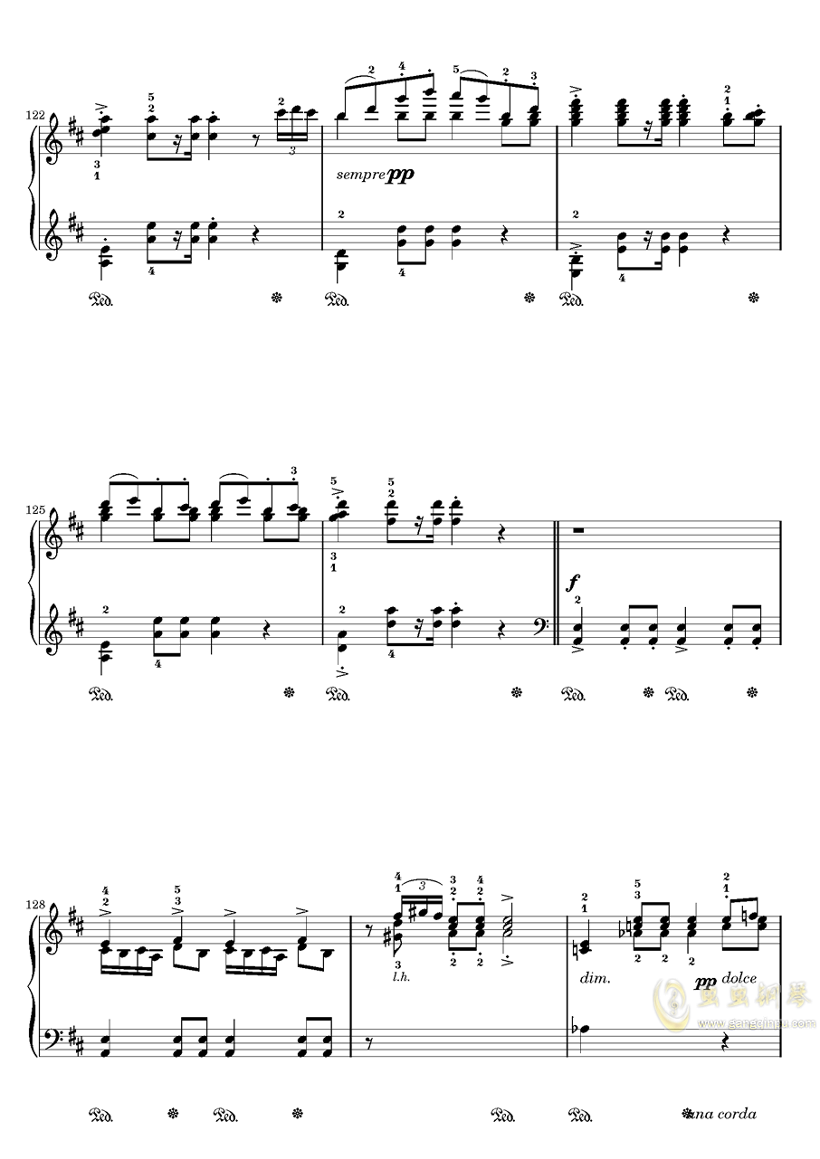 在托罗尔哈根的婚礼钢琴谱 第10页