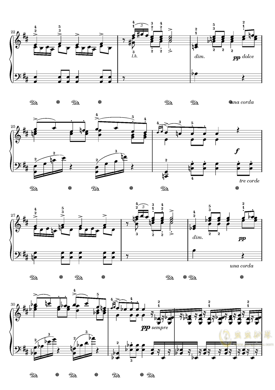 在托罗尔哈根的婚礼钢琴谱 第3页