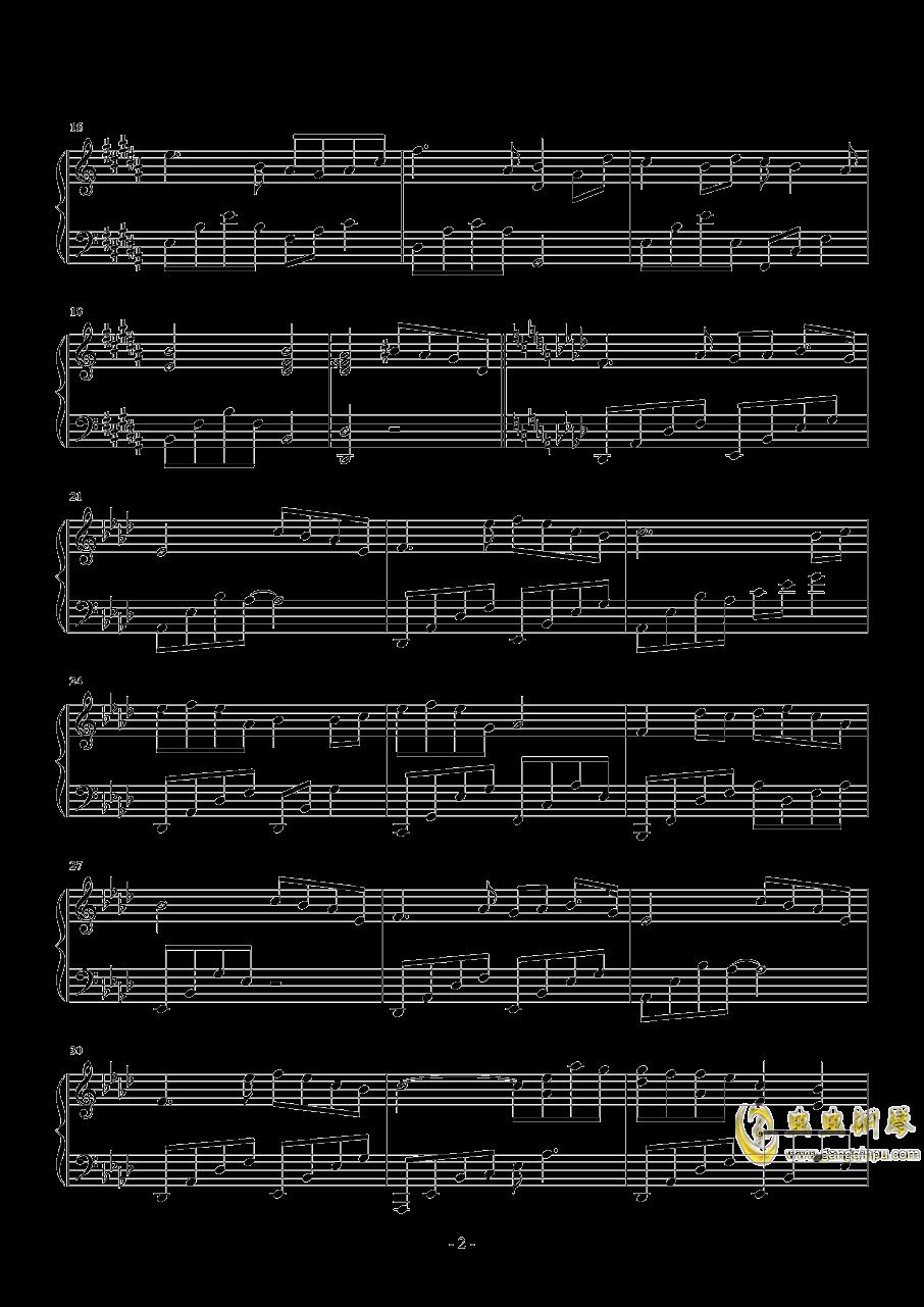 醉赤壁钢琴谱 第2页