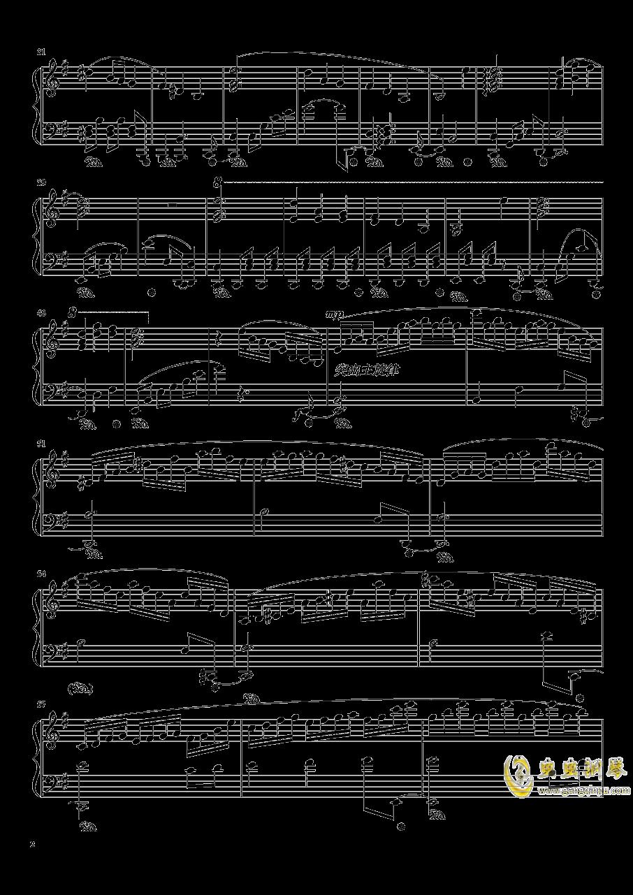 �v眼のジェラシ�`钢琴谱 第2页