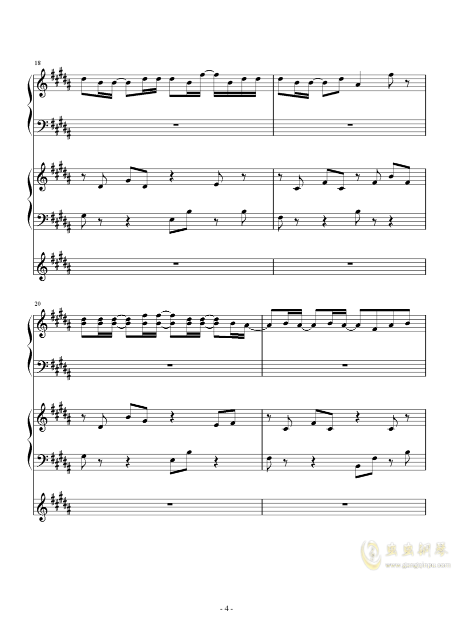 风对雨的轻语钢琴谱 第4页