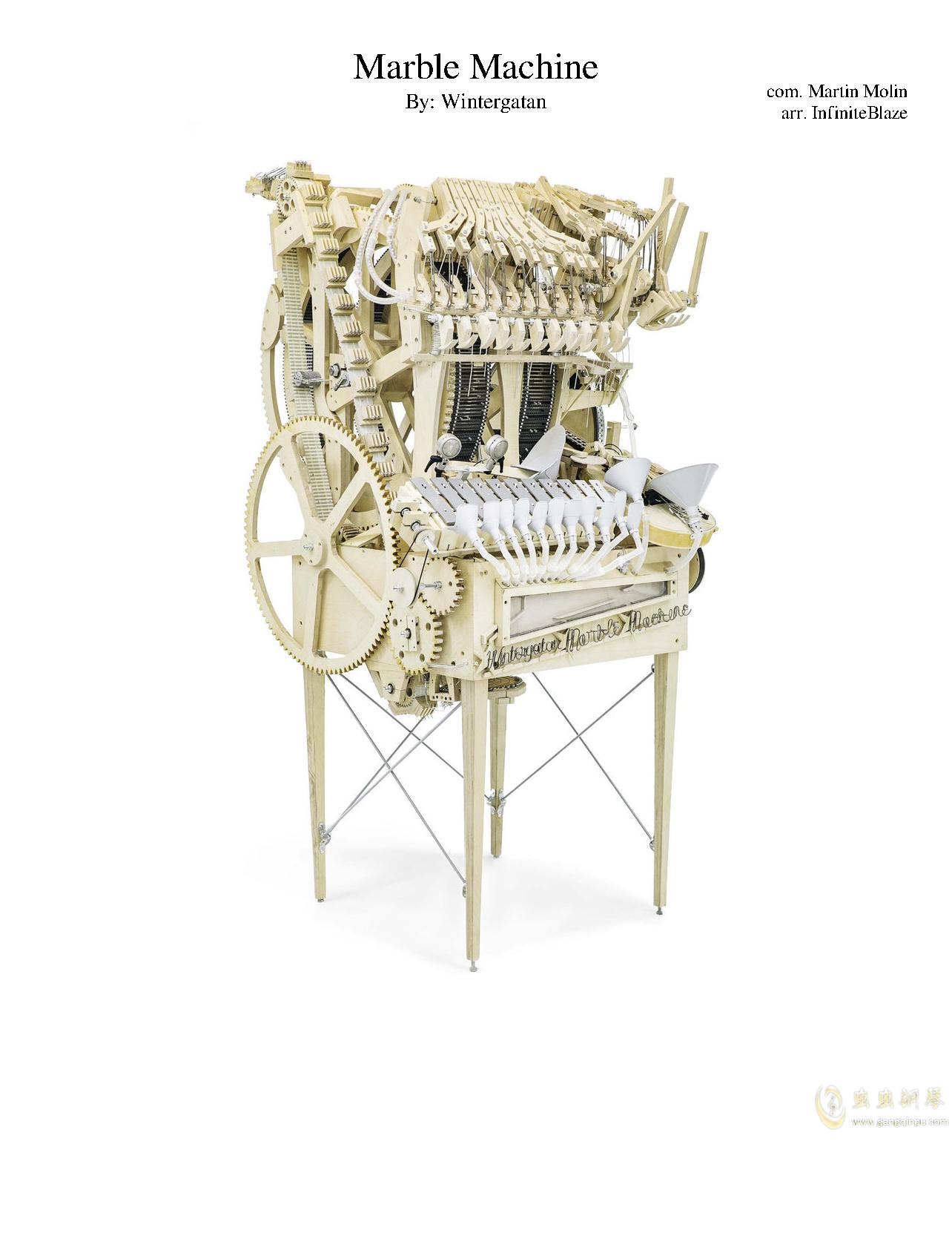 Wintergatan Marble Machine 总谱 ,wintergatan Marble