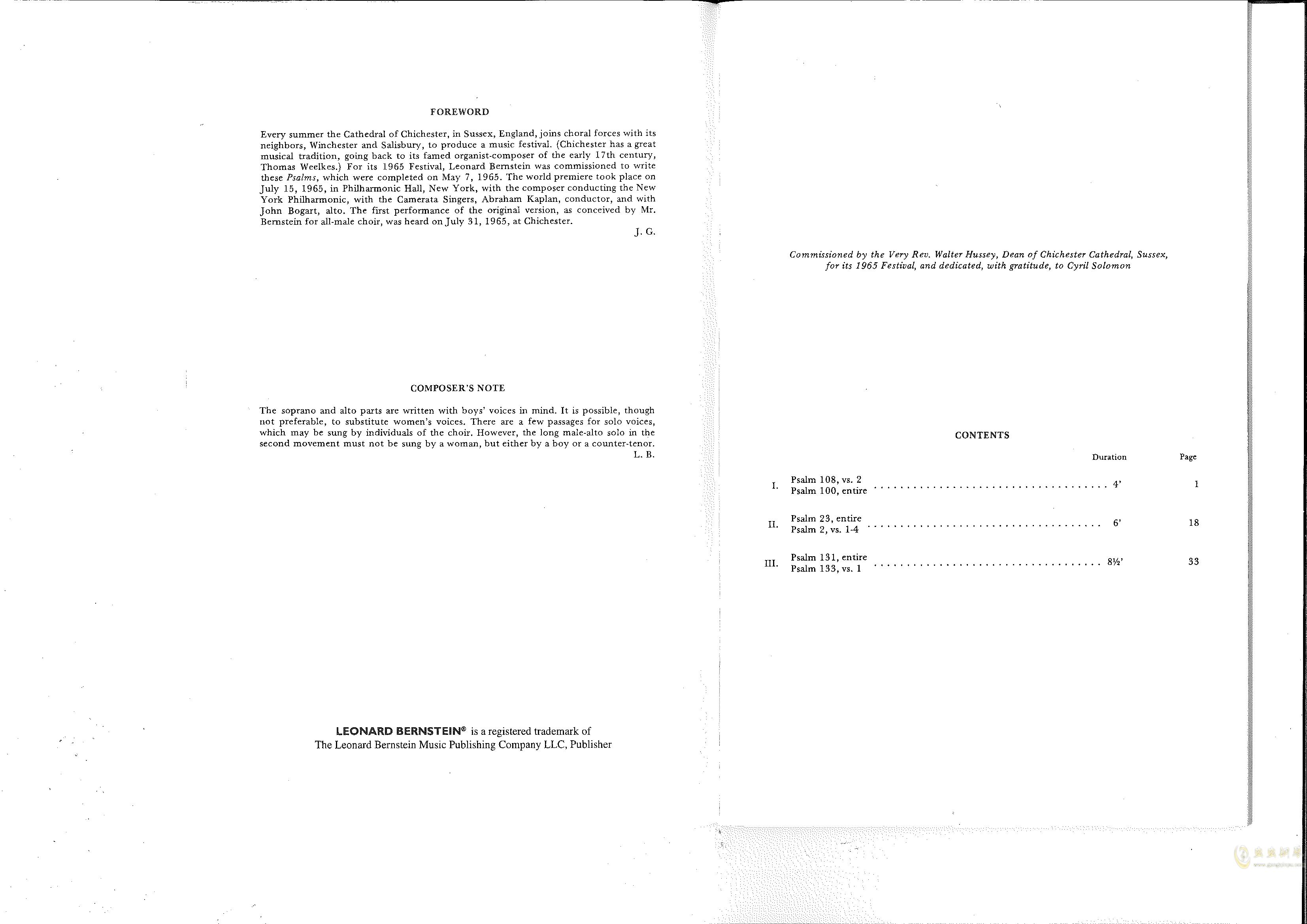 Chichester Psalms澳门星际官网 第2页