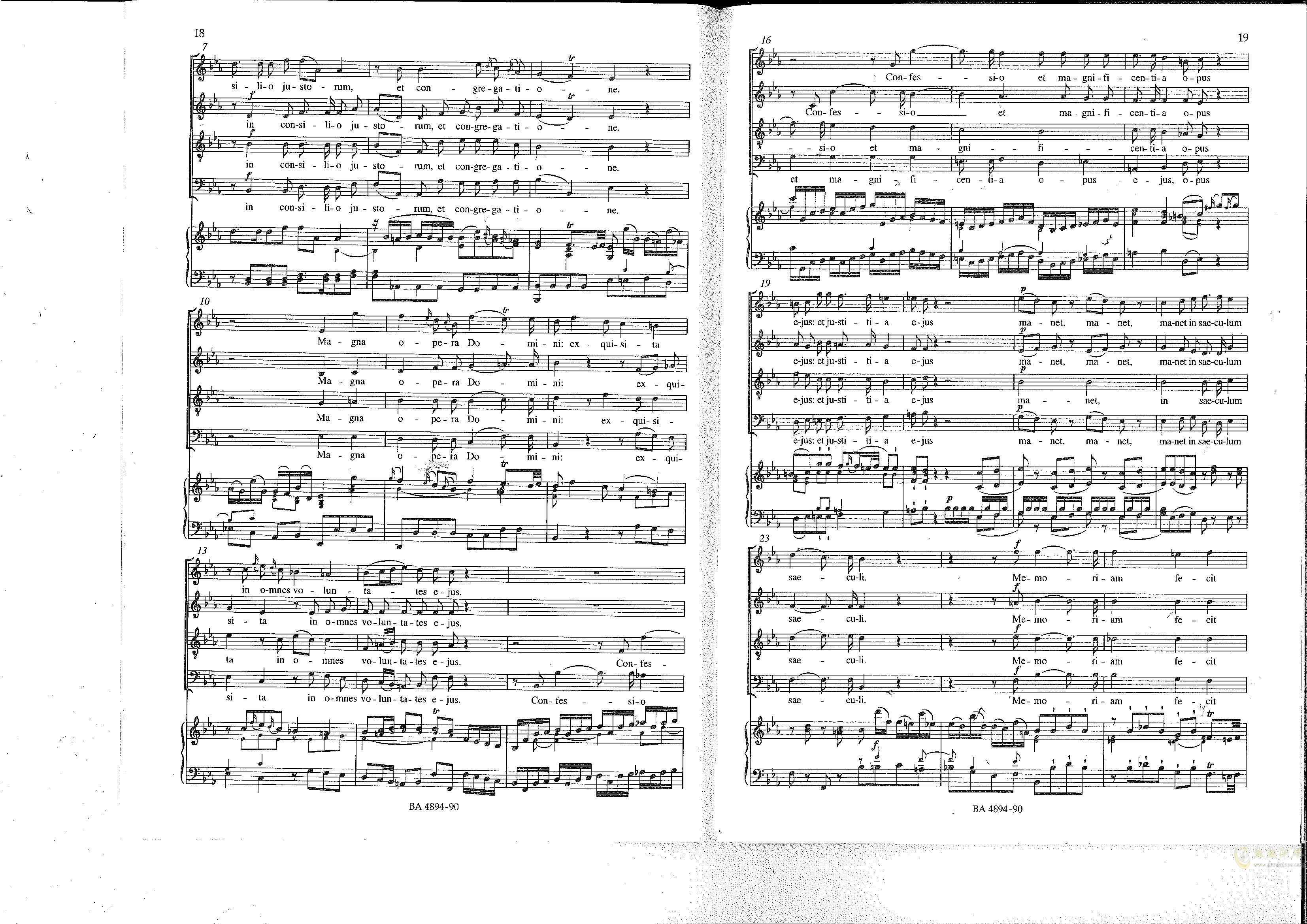 Vesperae solennes de confessore K. 339钢琴谱 第10页