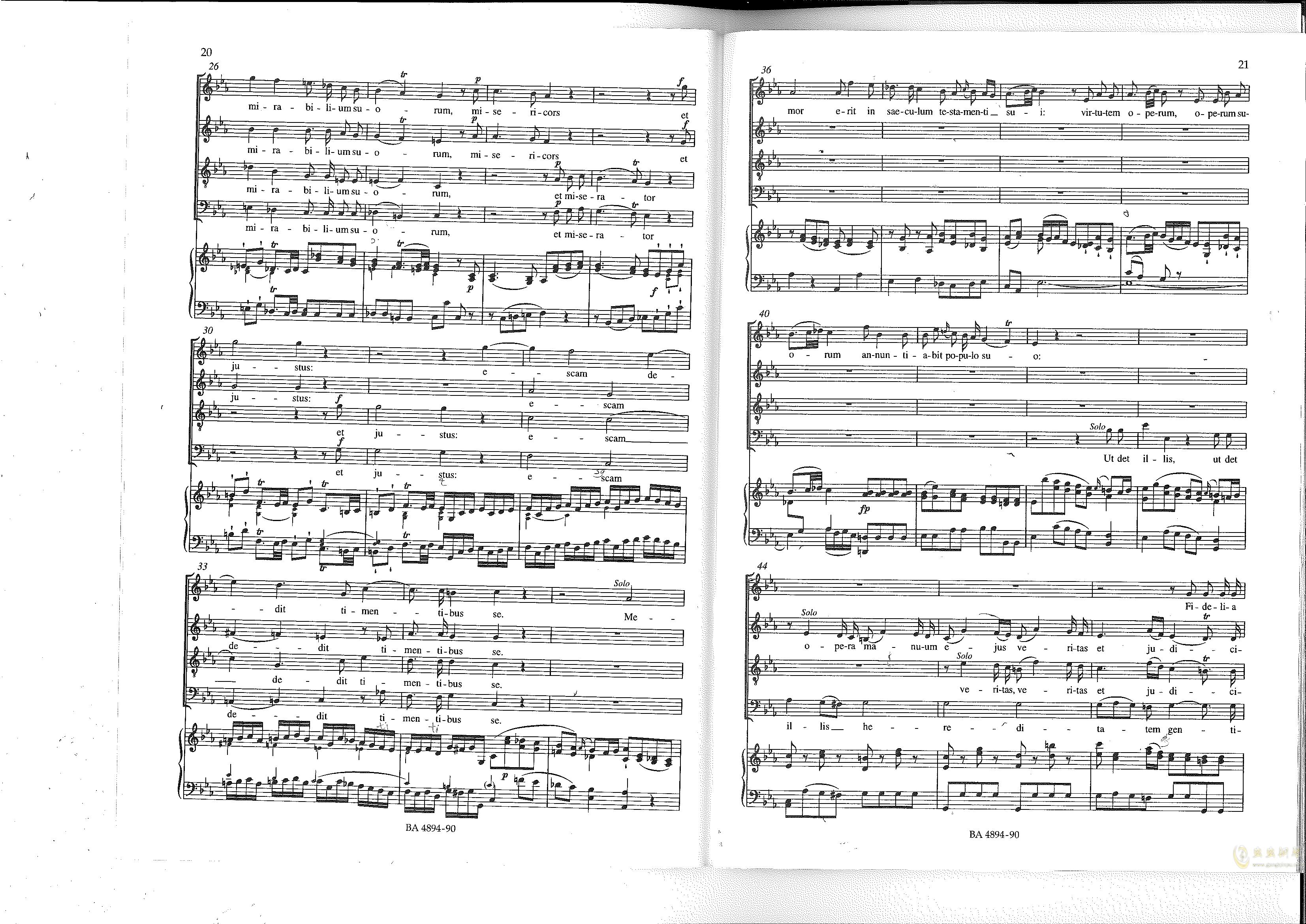 Vesperae solennes de confessore K. 339钢琴谱 第11页