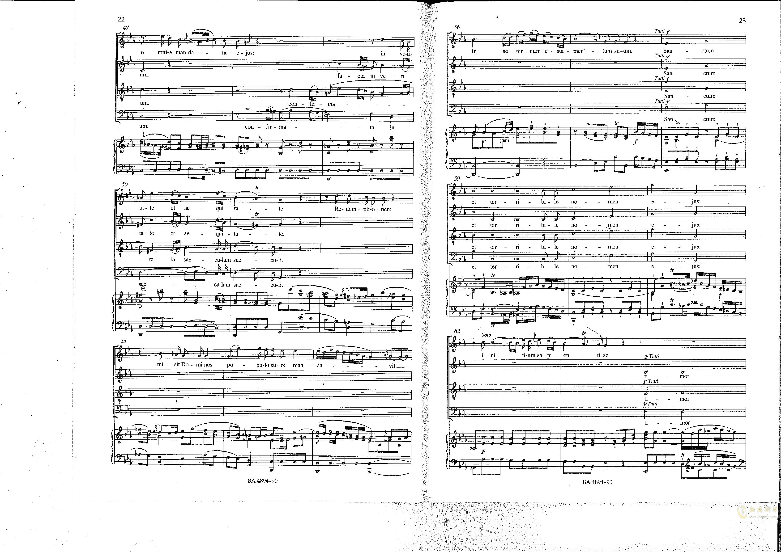 Vesperae solennes de confessore K. 339钢琴谱 第12页